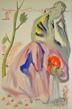 Divina commedia purgatorio 21 by Salvador Dali