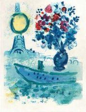 Bateau-Mouche au Bouquet by Marc Chagall