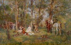 A picknick in the forest by Wilhelm Velten