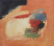 Composition au fond orange