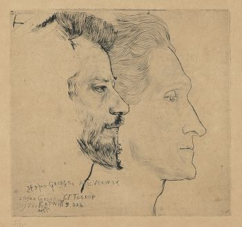 Portrait of Stefan George and Albert Verwey by Jan Toorop