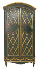 Green and Gold Italian Armoire by Unknown Artist