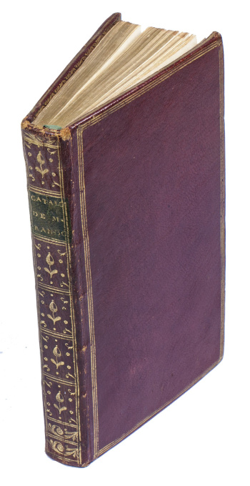 Auction catalogue of one of the most celebrated collections of the 18th century by Pierre Louis Paul Randon de Boisset