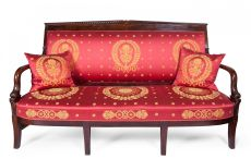 "Finely carved mahogany Empire sofa ""aux dauphins"" by Pierre-Antoine Bellangé"