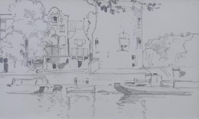 Amsterdam canals by Cornelis Vreedenburgh