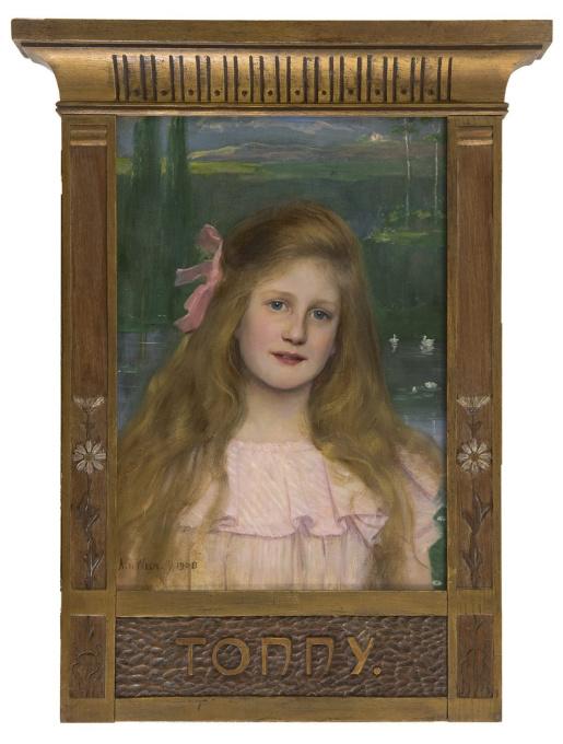 Portrait of Tonny (Jkvr. Antonia J.M. Courbois) by Antoon van Welie