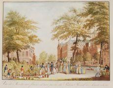 Vue du Marche aux fleurs & d'une partie du Palais Royal a Amsterdam by Bierweiler, Frederik Christiaan