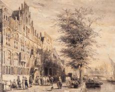De Sint-Sebastiaansdoelen aan het Singel te Amsterdam