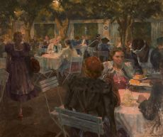 A summer evening in Salzburg by Louis Schutte