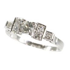 Vintage platinum Art Deco diamond engagement ring by Unknown
