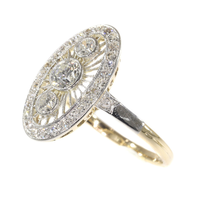 Vintage Art Deco Edwardian diamond engagement ring by Unknown
