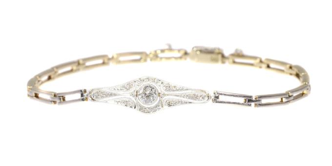 Vintage Art Deco - Belle Epoque diamond bracelet by Unknown