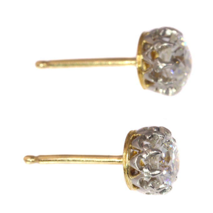 Vintage diamond Art Deco ear studs by Unknown