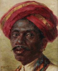"​A portrait of a ""Madras boy"" by HUGO VILDRED VON PEDERSEN"