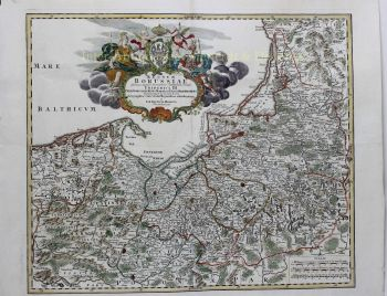 Poland, Kaliningrad/Königsberg (Pomerania and East Prussia)  by  Johann Baptiste Homann