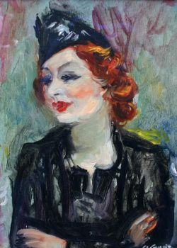 Portrait of Marthe Lebasque by Charles Camoin