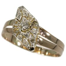 Belle Epoque Art Deco ring with diamonds by Unknown Artist