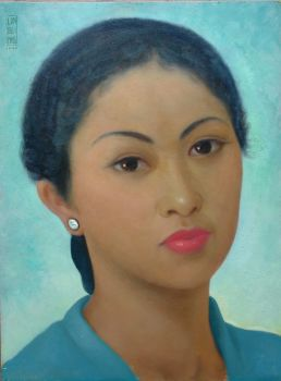 Indonesian portrait by Lim Kwi Bing