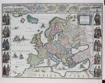 Europe  by  Willem Blaeu