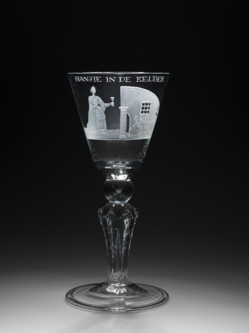 A rare Wine Glass for a special occasion by Unknown Artist