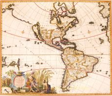 North and South America-heightened with gold by Carolus Allard
