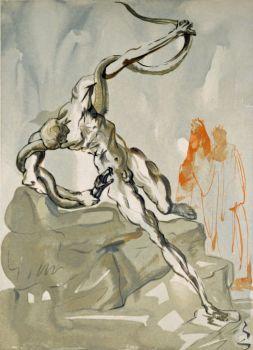 Divina commedia inferno 24 by Salvador Dali
