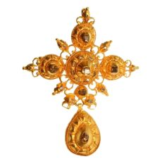 17th Century gold and diamond cross by Unknown Artist