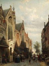 Oude Zijds kapel, Zeedijk, Amsterdam by Cornelis Springer