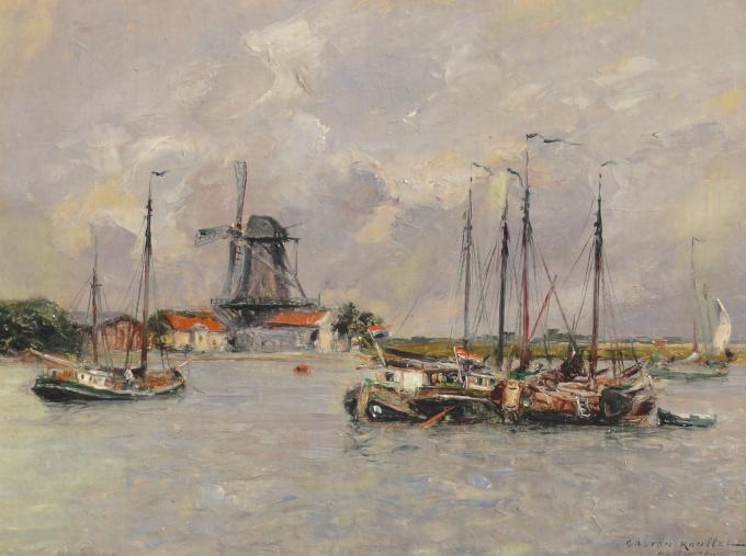 Dordrecht, souvenir d'Hollande by Gaston Roullet