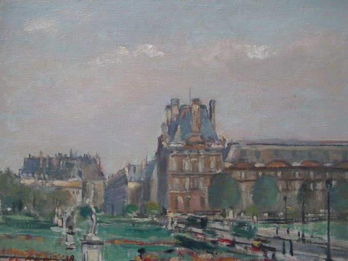 View of Paris (1938) by Otto B. de Kat