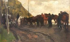 """Halte der Artillerie or Rustende Cavalerie"" by George Hendrik Breitner"