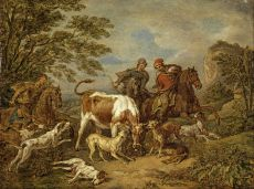A Hunting Party by Pieter van Bloemen
