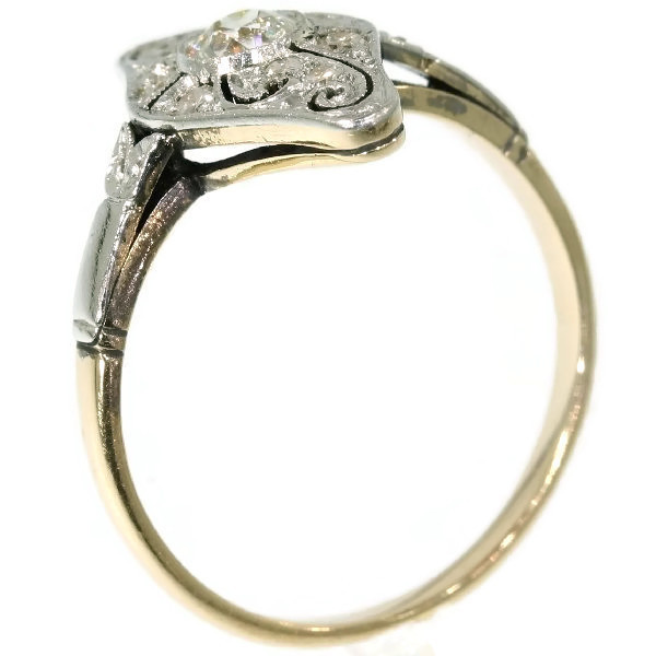 Art Deco diamond engagement ring by Unknown Artist