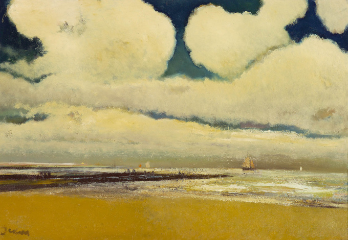 Beach with boats by Floris Jespers