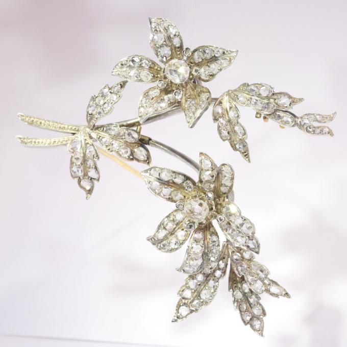 Antique diamond set trembleuse branch brooch by Unknown Artist