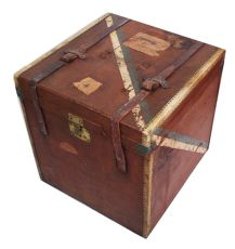 Early 20th Century Square Travel Trunk  by Unknown Artist