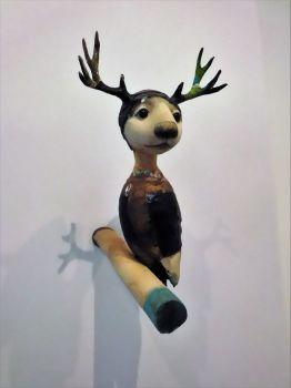 Uit 2021 Mixed Media Sculpture In Stock by Corjan Nodelijk