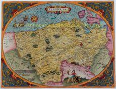 Vlaanderen by Ortelius, Abraham