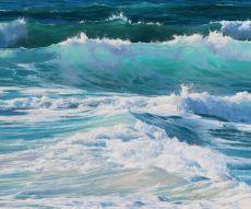 Mensaje del Mar Original oil painting 100 x 120cm y 2021 by Erika Toliusis