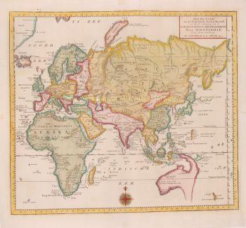 Eastern Hemisphere  by  Isaak Tirion