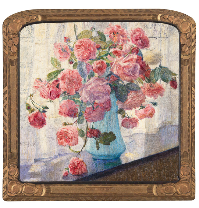 Still-Life with Roses by Adelin Verly