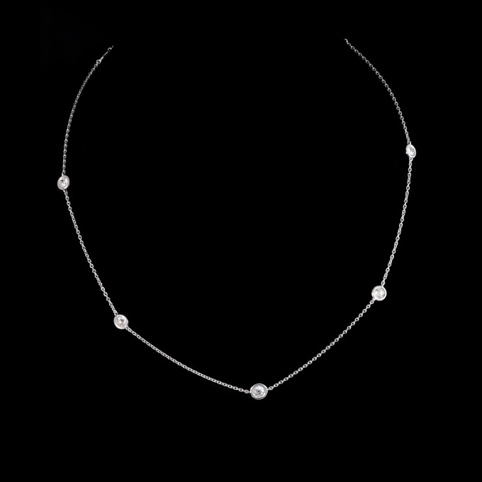 Diamond spectacle set necklace by Ans Hemke-Kuilboer