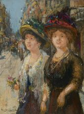 Two ladies in The Hague by Franz Helfferich
