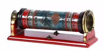 AN EXTREMELY RARE JAPANESE GLASS TELESCOPE WITH LACQUERED STAND by Unknown Artist